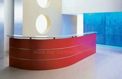 Resim Otel Bankosu Kırmızı
