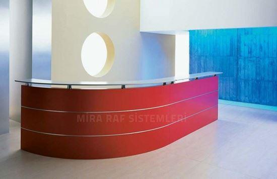 Otel Bankosu Kırmızı. ürün görseli